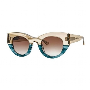 THIERRY LASRY UTOPY 072 BEIGE & GREEN UNICO